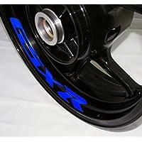 EUFBA Suzuki GSX R Motorradfelge Aufkleber Aufkleber Streifen Gloss Blue