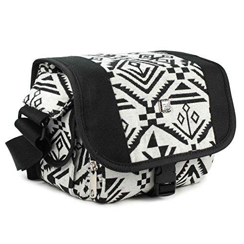 tlc-navajo-aztec-dslr-camera-digital-bolsa-hipster-de-hule-negro-blanco