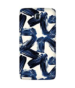 Blue Strokes LG G Pro Lite Printed Back Cover