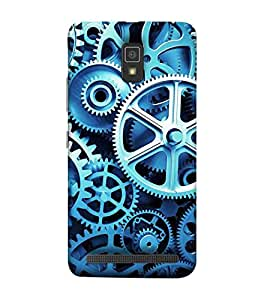 For Lenovo A6600 industrial clock transmission gear set, clock set clock gear set Designer Printed High Quality Smooth Matte Protective Mobile Pouch Back Case Cover by BUZZWORLD