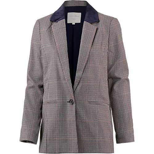 - TOM TAILOR Denim Damen Anzugjacke karrierter Boyfriend Blazer, Beige (Sartorial Check 13894), 36 (Herstellergröße: S)