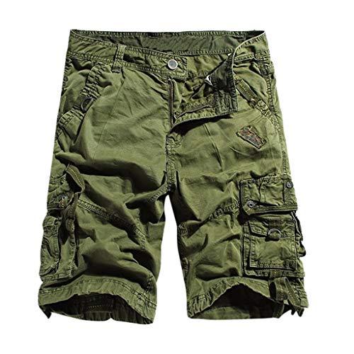 Zolimx Neue Sommer Sport Shorts für Herren Schnell trocknende, lässige Flatpants Spitzenshorts Stripe Short Beanie