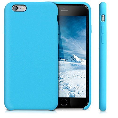 kwmobile Hülle für Apple iPhone 6 / 6S - TPU Silikon Backcover Case Handy Schutzhülle - Cover Taupe .Hellblau