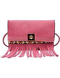 Hawai Pink Twist Clasp Small Pu Sling Bag