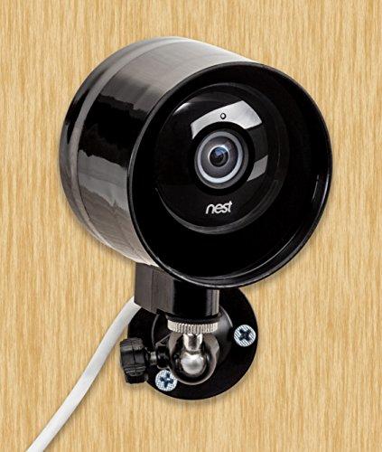 Objektiv Dome-gehäuse Wandhalterung (Outdoor-Hülle und flexible Wandhalterung für Nest Cam & Dropcam Pro, 100% wetterfest, 100% Tag- & Nachtsicht, Kühlkörper vermeidet Überhitzung)
