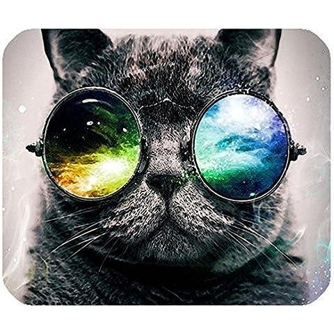 Rettangolo COMPUTER GAME Mouse Pad Mat con gatto in Galaxy immagine panno, (Rettangolo Computer)