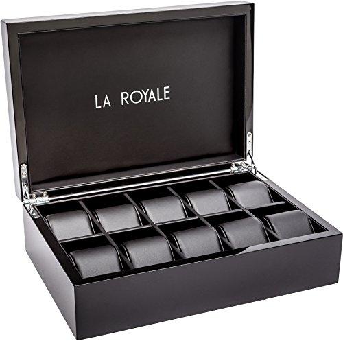 LA ROYALE Felice XL Relojes Box – Caja para 10 Relojes