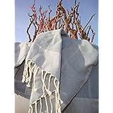 Fouta Toalla hammam 'Playa'   lujoso modelo extra grande de toalla de baño / sauna   muy absorbente y ligero  ...