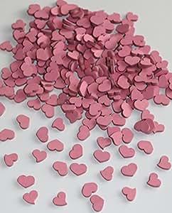 220 stk holzherzen 1 5cm rosa altrosa. Black Bedroom Furniture Sets. Home Design Ideas