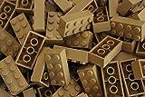 25 LEGO Steine Grundbausteine mit 2x4 Noppen (3001) in Beige (Tan)