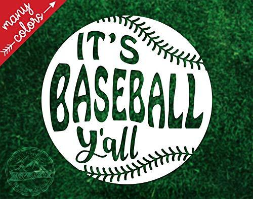 Celycasy Baseball Y'all Vinyl-Aufkleber, Baseball-Aufkleber, Helm-Aufkleber, Baseball-Helm-Aufkleber, Auto-Aufkleber, Yeti-Aufkleber, Laptop Aufkleber -