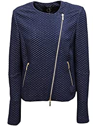 9421U giacca donna UP TO BE SOFIA full zip blue delave jacket woman a45de40db6d