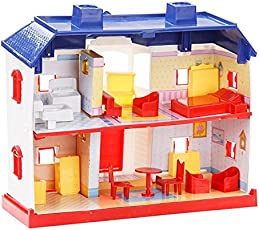 HALO NATION Kid's Beautiful Doll House Play Best Christmas Gift - Set Of 24 Pieces (HN-DH24, Multicolour)