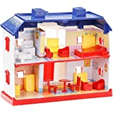 VSHINE Doll House Play Set (Multicolor_ Set Of 24 Pieces)