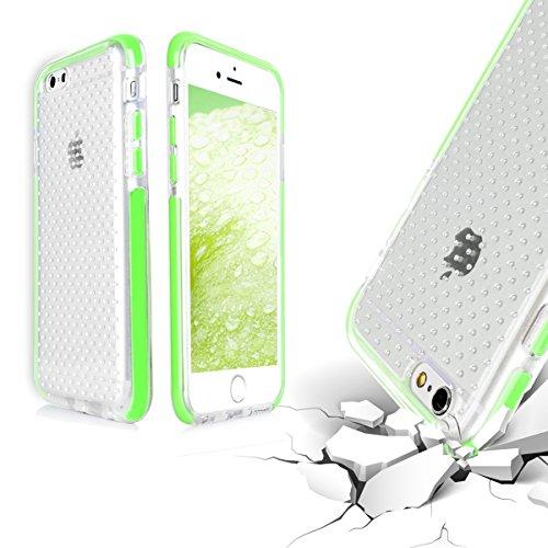 Coque iPhone 6, Fyy® Housse Magnetique Smart View avec Fenêtre d'Ouverture pour iPhone 6 (4.7 pouces) Noir A-Vert