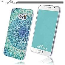 WeLoveCase Funda Samsung Galaxy S6 Silicona,  Cascara de Protección Tapa Anti Polvo Absorción De Choque Funda Samsung Galaxy S6 Mandala Gel,  Funda Suave Resistente Fina Original Funda Samsung S6 Silicona