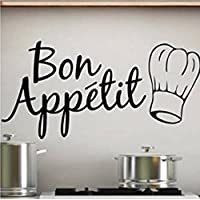 Sticker Bay Bon Appetit Kitchen Wall Sticker Art Quote - Black