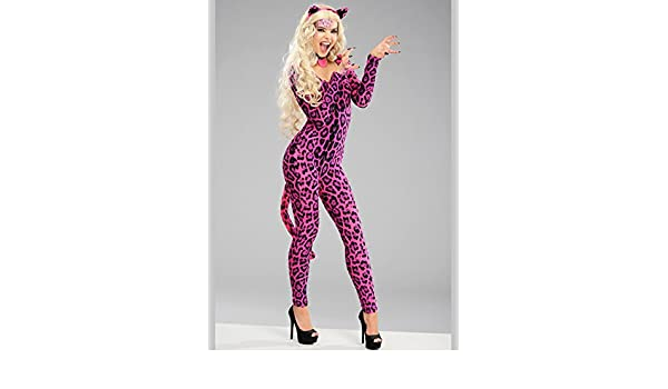 5d8a38415620 MagicBox Adult Womens Pink Leopard Cat Costume S (UK 8-10): Amazon.co.uk:  Toys & Games
