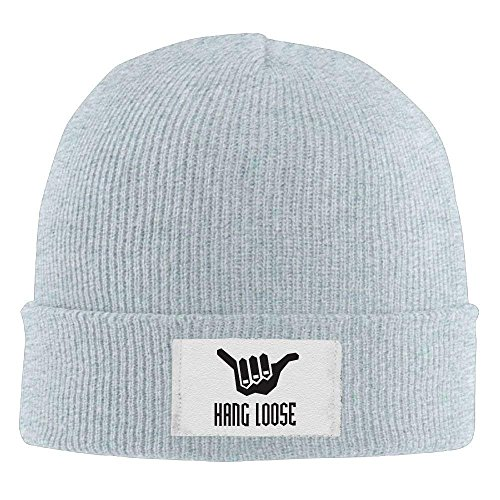 RJHNcase Hang Loose Winter Warm Knit Hats Skull Caps Thick Cuff Beanie Hat Unisex (Beanie Loose Knit)