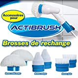 Actibrush–Lot de 6Ersatzbürsten–Ideal für gesäubert die Fliesen, Dichtungen, Duschen, Badewannen, Waschbecken, Schienen-Türen, Möbel Outdoor, Rollen, Boote, Fahrräder, etc.