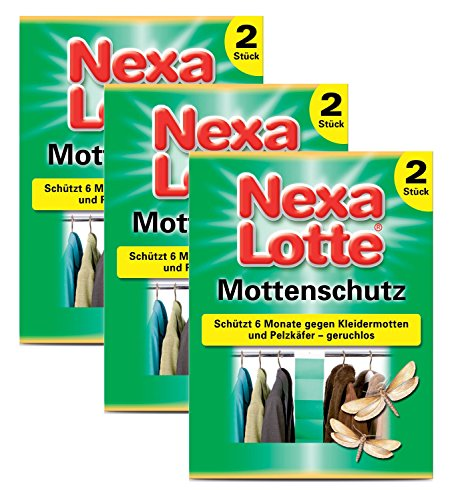 Oleanderhof® Sparset: 3 x SCOTTS Nexa Lotte® Mottenschutz-Papier, 2 Stück + gratis Oleanderhof Flyer