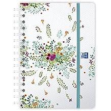 Oxford, 1agenda semanal Flowers–Encuadernación rizado (–agosto 2018de agosto 2019–16x 24cm–colores aleatorios