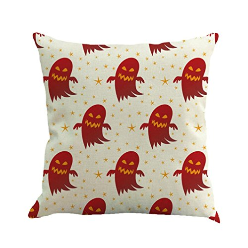 RWINDG Halloween Ghost Pumpkin Pillow Case Sofa Waist Throw Cushion Cover Home Decor Kissenbezug Kissenhülle Kissenbezüge Seitenschläferkissen Nackenkissen Viele Größen