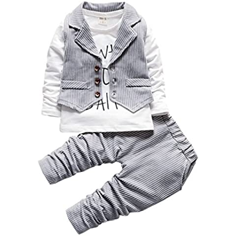 OMSLIFE bambini Shirt + vest + pants del regalo dei