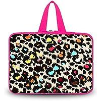 Stampa leopardata colorata 35,6cm pollici laptop manicotto protettivo borsa custodia borsa da trasporto con manico per 35,6cm Sony Vaio EG26EC/vizio ct14-a1sottile e leggero/Dell Inspiron 14R/HP Slatebook 14/Samsung Series 3np300V4a-a01PC portatile
