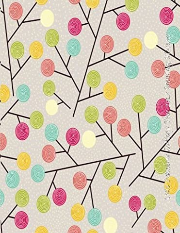 Cute Rainbow Lollipop Tree 2017 Monthly Planner: Large 8.5x11 16 Month August 2016-December 2017 Calendar