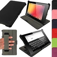 "iGadgitz U2569 7"" Folio Negro funda para tablet - fundas para tablets (Folio, Negro, cuero PU, Google, Nexus 7, Resistente a rayones)"