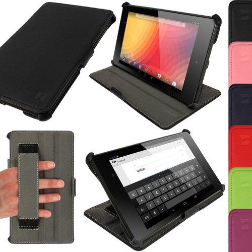 'igadgitz u25697Handy Bookstyle schwarz Tasche für - 7-hdmi-adapter Google Nexus
