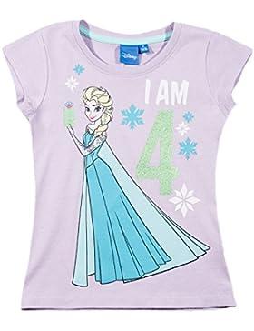Disney Die Eiskönigin Elsa & Anna Mädchen T-Shirt - lila