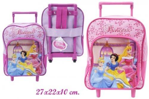 Kinder Schul-Trolley Disney Tasche Koffer 27cm Princess LILA