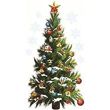 Árbol de Navidad verde grande Star PVC DIY Vinilo Adhesivo de Pared Extraíble Mural Decoración del hogar Póster Antecedentes