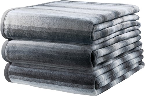 Ibena Sofaläufer 3er-Pack Baumwollmischung grau Größe 100x200 cm