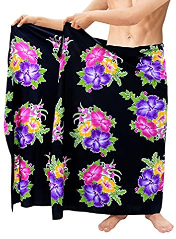Sarong Beach Men Swimsuit Floral Swimming Pareo Wrap Coverup Bathing