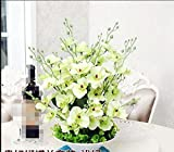 JFWMZyq Artificial flowers Sets Potted Phalaenopsis Tv Stand Decoration Green