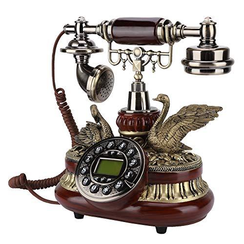 VBESTLIFE Retro Telefon, Europäische Antikes Telefon FSK/DTMF Duales System,Klassisches Retro-Vintage-Holztelefon für Wohnzimmer, Schlafzimmer, nachttisch, Studie, Hotel, Shop, etc. - Schlafzimmer, Telefon