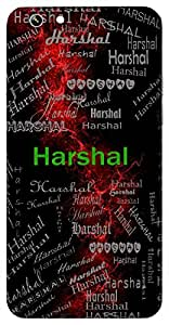 Harshal (A Lover) Name & Sign Printed All over customize & Personalized!! Protective back cover for your Smart Phone : Samsung Galaxy ON-5