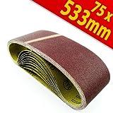 K 80 Schleifbänder Schleifband Bandschleifer 75x533mm 10Stck