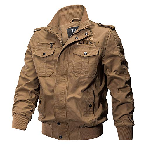 Tarnung Shjzom Militärpilot Jacken Männer Winter Herbst Bomber Baumwollmantel Tactical Army Casual Air Force Jacke Khaki L Wool Field Coat