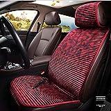 BMDHA Copri-Sedile Auto 12V Riscaldato Universale | Kit Riscaldamento Sedili Anteriori Morbido Cuscino Di Velluto 30 Secondi Di Riscaldamento Veloce 55 ° (1 Articolo),Red