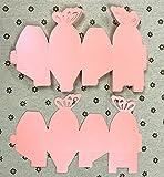 JZK® 50 x Gastgeschenk Box Süßigkeiten Geschenkbox Schmuck Schachtel für Hochzeit Geburtstag Party Gartenparty Taufe Babyparty Baby Shower Festival Weihnachten(rosa Schmetterling, quadratisch) - 6