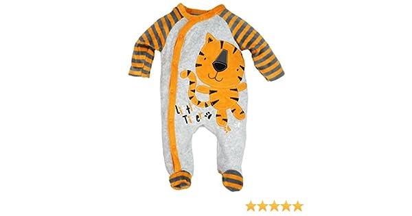 1e47e12674e05 Dors bien grenouillère bébé en velours - Tigre T. 68 74 (6 9 mois)   Amazon.fr  Vêtements et accessoires