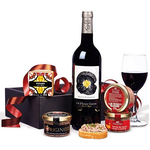 """Ducs de Gascogne - """"Ambiance apéro"""" - comprend 4 terrines et 1 vin - spécial cadeau de Noël"""