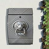 motivx Wandbriefkasten Design bunt bedruckt Arcus Edelstahl Briefkasten mit Motiv - Löwenklopfer