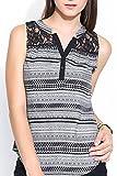 Colors Couture Aztec Black & White Lace ...
