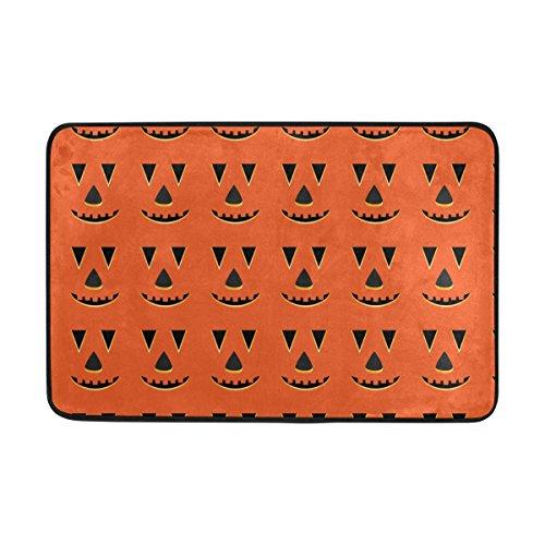 rbis Gesichter Muster Fußmatte, Eintrag Weg Indoor Outdoor Tür Teppich mit Anti Rutsch, (23,6 von 15,7-Zoll) (Kürbis Halloween-gesichter-muster)