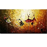 Decdeal Handgemalt Ölgemälde Leinwandbilder Bild auf Leinwand Balletttänzerin 120 x